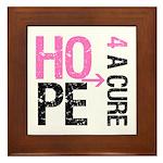 Hope Cure Breast Cancer Framed Tile