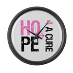Hope Cure Breast Cancer Large Wall Clock
