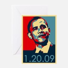 Obama Inauguration Date 1-20-09 Greeting Card