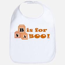 Halloween Boo Blocks Bib