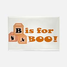 Halloween Boo Blocks Rectangle Magnet