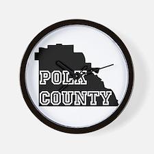 Polk County Wall Clock