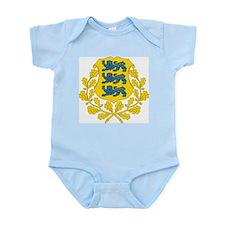 Estonia Coat Of Arms Infant Creeper