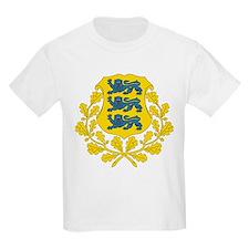 Estonia Coat Of Arms Kids T-Shirt