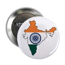 """India Flag Map 2.25"""" Button"""
