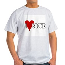 I Heart (Love) Boone Ash Grey T-Shirt