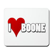 I Heart (Love) Boone Mousepad