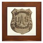 Lighthouse Police Framed Tile