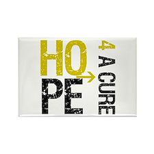 Hope Cure ChildhoodCancer Rectangle Magnet