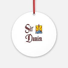 Sir Damien Ornament (Round)