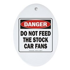 Stock Car Fans Oval Ornament