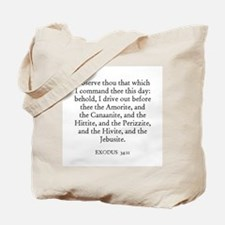 EXODUS  34:11 Tote Bag
