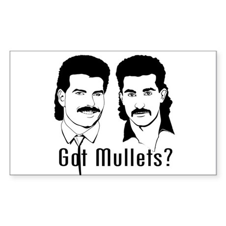 Got Mullets? Rectangle Sticker
