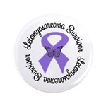 "Leiomyosarcoma Survivor 3.5"" Button"