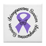 Leiomyosarcoma Survivor Tile Coaster