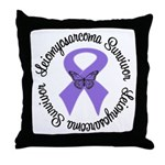 Leiomyosarcoma Survivor Throw Pillow