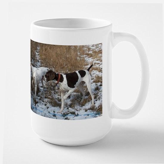 Pointer Pair at Work Large Mug