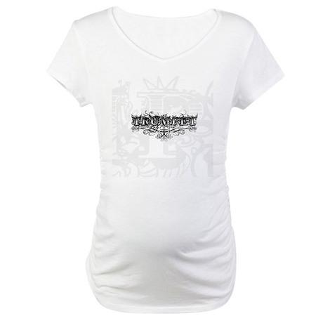 Trumpet Tattoo Maternity T-Shirt