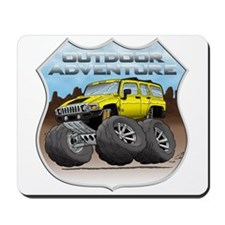 Yellow Hummer H3 Mousepad