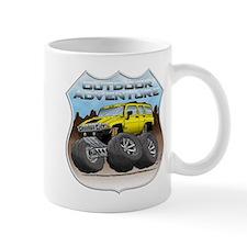Yellow Hummer H3 Mug