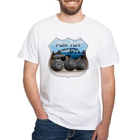 Blue Hummer H3T White T-Shirt