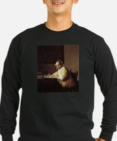 aaart A Lady Writing a Letter - Vermeer T