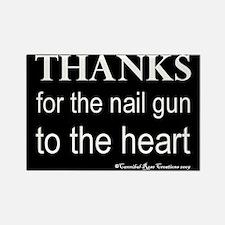 Nail Gun Heart 2 Rectangle Magnet