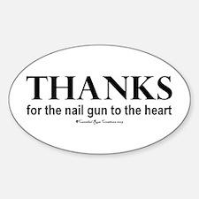 Nail Gun Heart Oval Decal