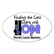 HOPE Prostate Cancer 4 Oval Decal