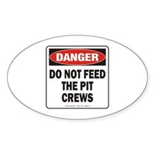 Pit Crews Oval Decal
