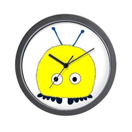 Yellow Wuppie Wall Clock