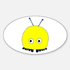 Yellow Wuppie Oval Decal