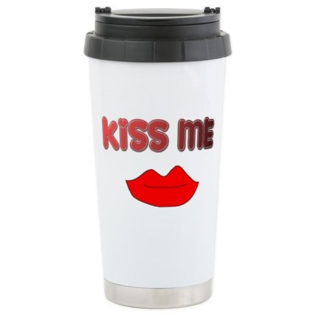 KISS ME Stainless Steel Travel Mug