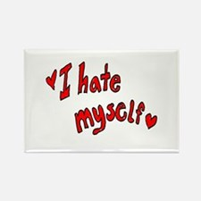 I Hate Myself Rectangle Magnet