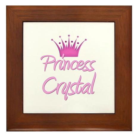 Princess Crystal Framed Tile