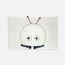 White Wuppie Rectangle Magnet