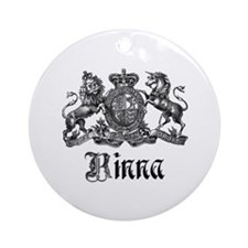 Rinna Vintage Crest Family Name Ornament (Round)
