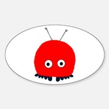 Red Wuppie Oval Decal