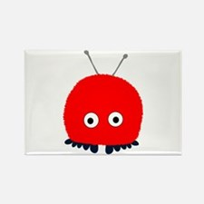Red Wuppie Rectangle Magnet