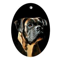 Boxer Dog Oval Ornament