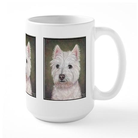Westie (head study) Large Mug
