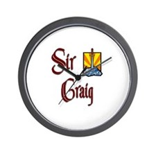 Sir Craig Wall Clock