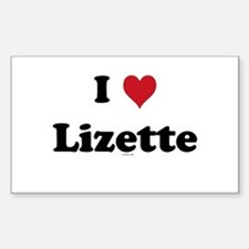 I love Lizette Rectangle Decal