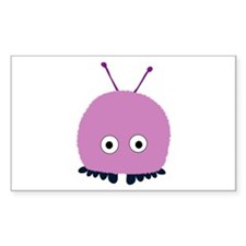 Purple Wuppie Rectangle Decal