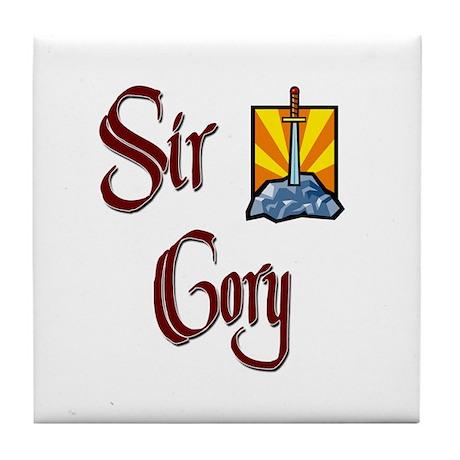 Sir Cory Tile Coaster