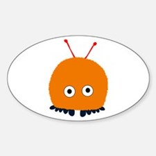 Orange Wuppie Oval Decal