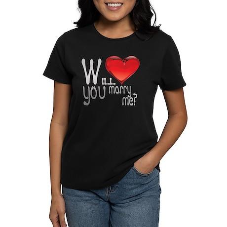 Will You Marry Me? Women's Dark T-Shirt