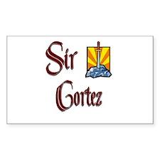 Sir Cortez Rectangle Decal