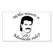Mustache Ride Rectangle Decal