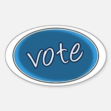 Vote for the Best - Oval Decal